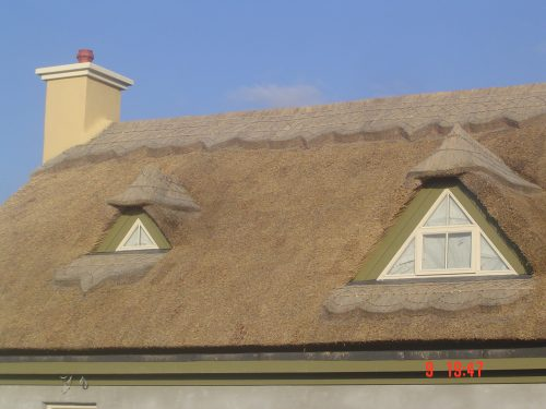 Thatched Banquet room in Ballycommon, Nenagh, County Tipperary, Ireland.