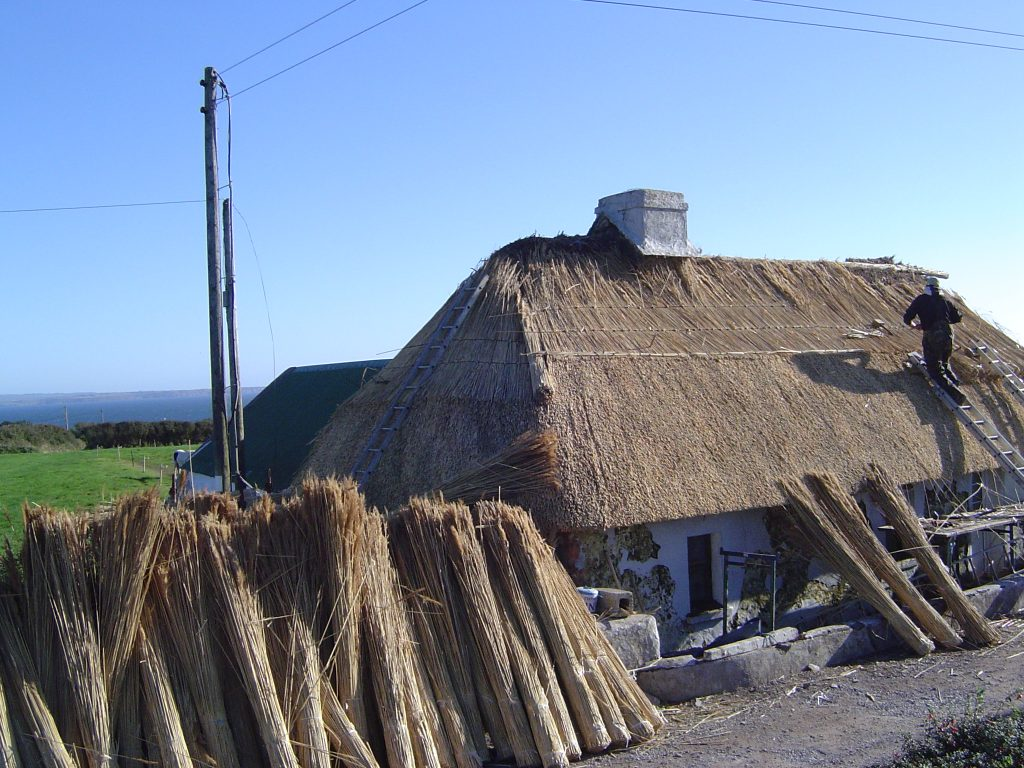 Reed thatching in Knockadoon, East Cork Ireland. Discover thatch and Thatching on Thatch Finder. Thatching In Ireland.
