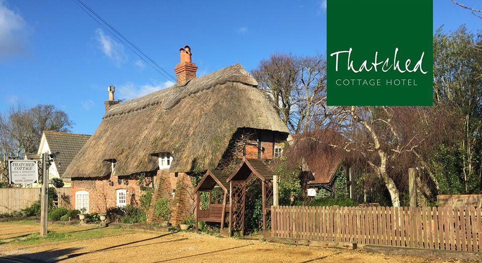 Thatched Cottage Hotel in Brockenhurst, England.