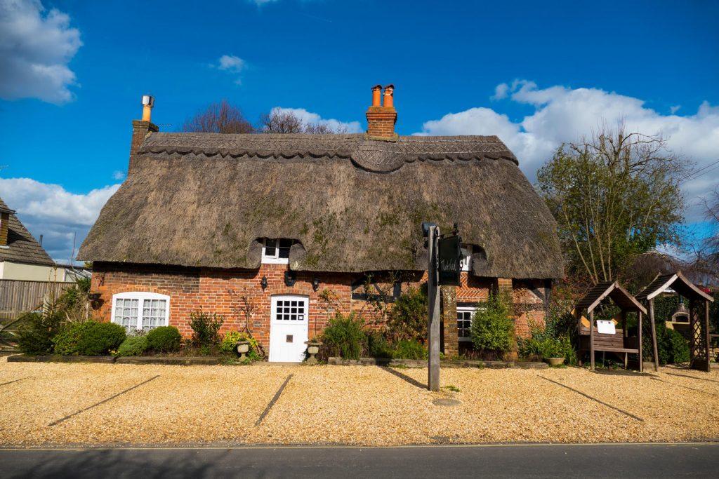 Thatched Cottage Hotel in Brockenhurst, UK.