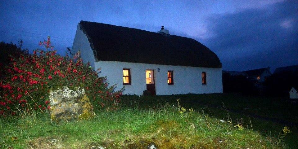 Thatched Cottage on Inis Mor, Aran Islands.