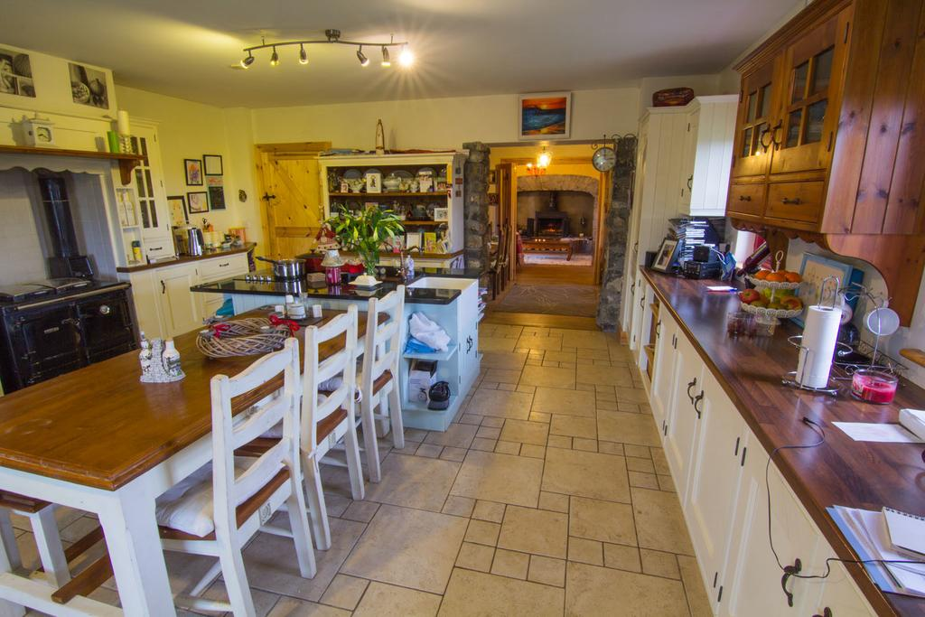 The Kitchen at the Thatched Cottage B&B in Claregalway, Ireland.