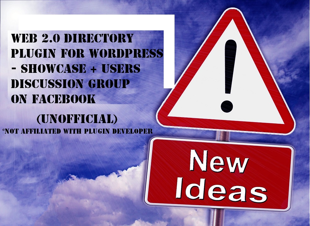 Web 2.0 Directory Plugin for WordPress - Showcase + Users Group on Facebook..