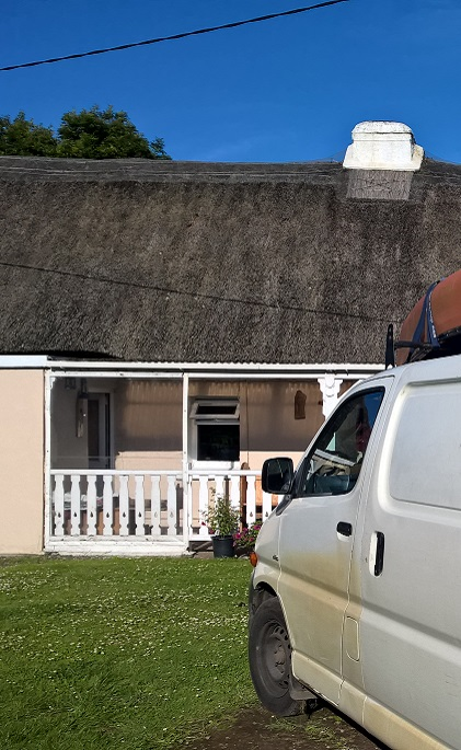 Irish Thatched Cottage and a Toyota Hiace. The perfect combination.