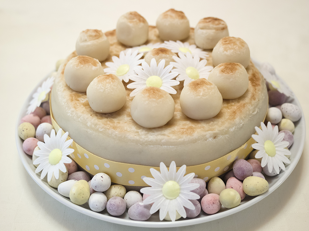 Simnel cake. A traditional Easter fruitcake made with marzipan