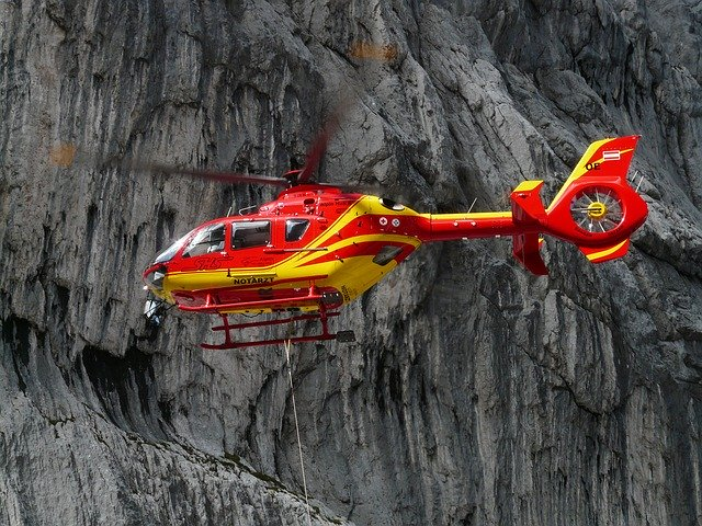 Rescue Helecopter - Travel Insurance Required
