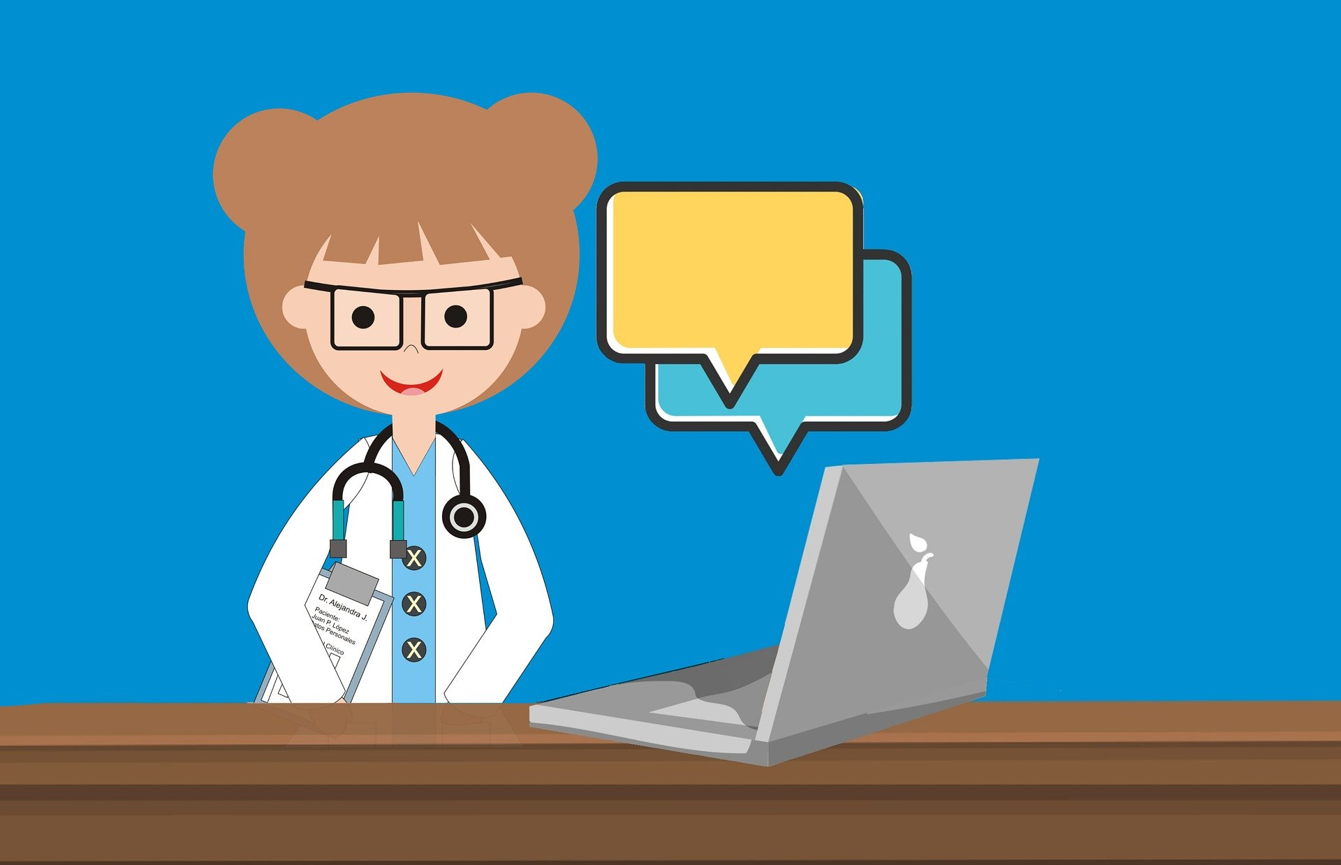 Online Doctor with Laptop