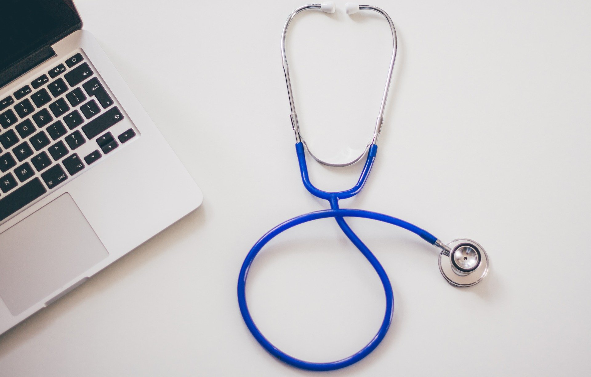 Laptop and Stethoscope - Online Doctor - Telemedicine