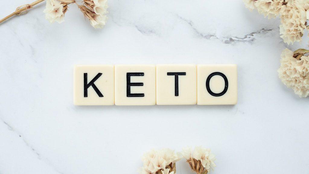 Keto in Scrabble Letters