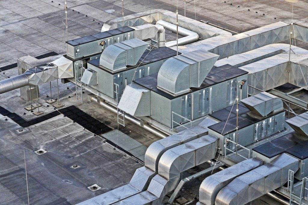 Ventilation Equipment on Roof of Building